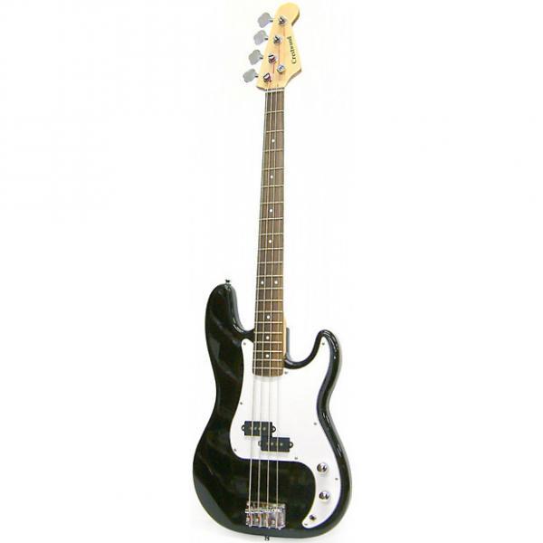 Custom New Crestwood PB970B 4-String Electric Bass Guitar, Black + Free Shipping #1 image