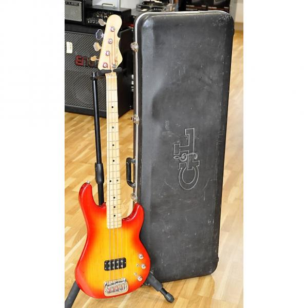 Custom G&L USA L-1500 Bass Cherryburst / Maple L1500 from 1993 & Hardcase - Made In USA - Free Shipping! #1 image