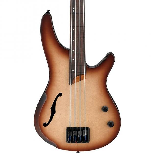 Custom Ibanez SRH500F-NNF Natural Browned Burst Flat Fretless Bass #1 image