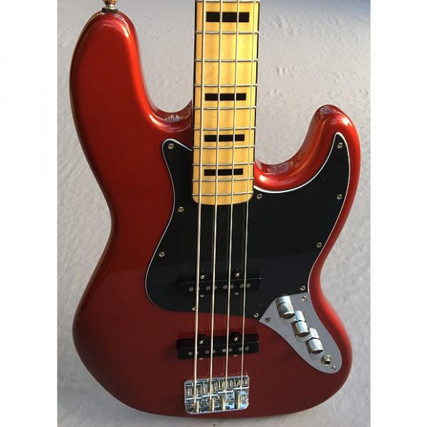 Custom Squier Vintage Modified '70s Jazz Bass In Candy Apple Red #1 image
