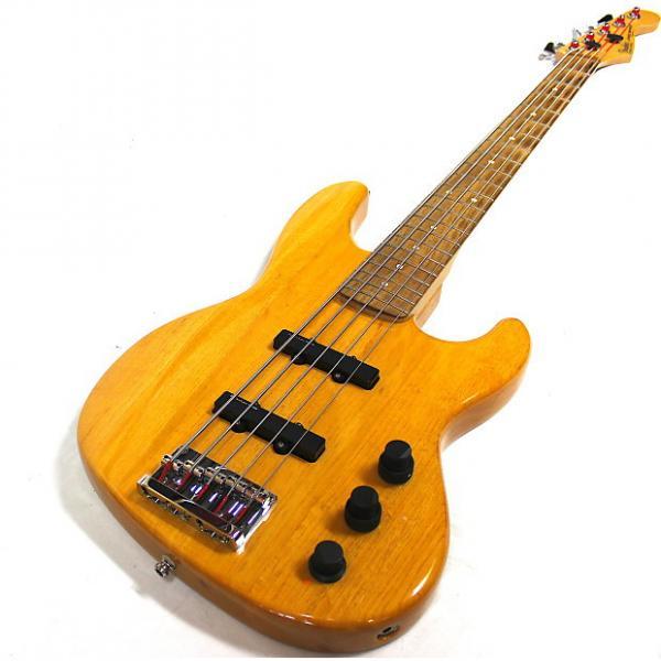 Custom Fender 5 string Jazz Bass 1992 wood #1 image