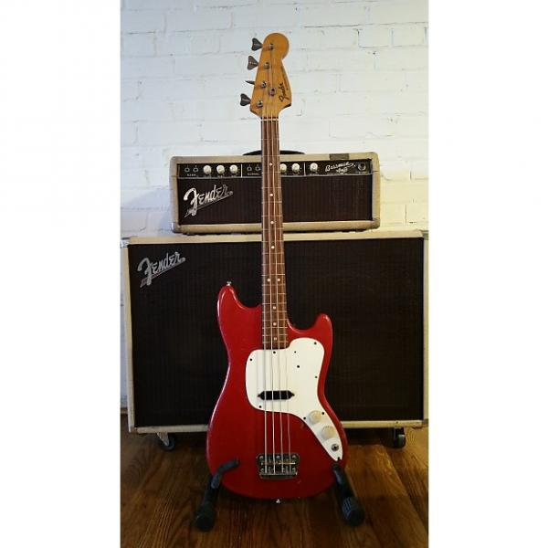 Custom 1971 Fender Musicmaster Bass Dakota Red    Beat up, but a great player... #1 image