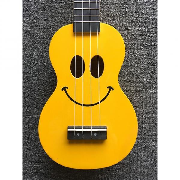 Custom Mahalo Ukulele Smiley Yellow #1 image