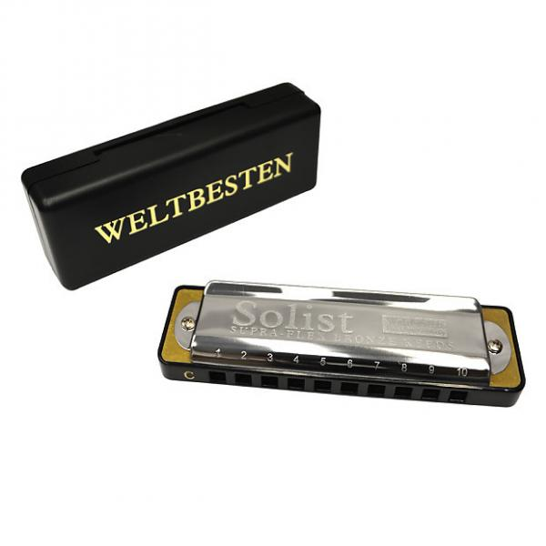Custom Excalibur Weltbesten Solist Supra-Flex Bronze Reed Harmonica - Key of G #1 image