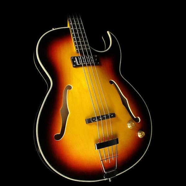 Custom Eastwood Saturn IV Electric Bass Guitar Sunburst #1 image