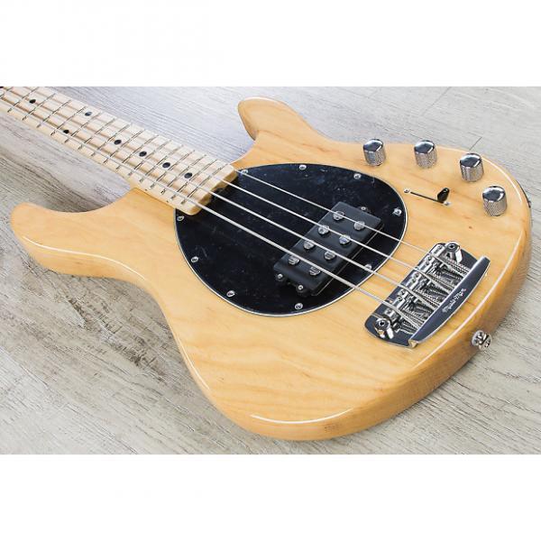 Custom Music Man Sterling 4 Bass Guitar - Natural, Maple Fingerboard, Black Pickguard #1 image