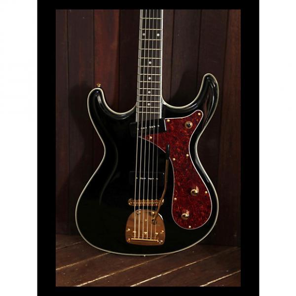 Custom Eastwood Sidejack Bass VI - Black #1 image