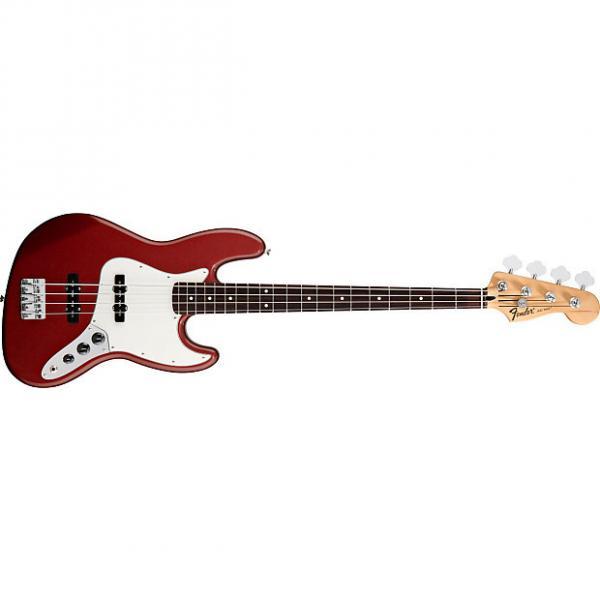 Custom Fender Standard Jazz Bass Rosewood Fretboard Candy Apple Red #1 image