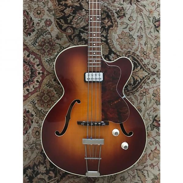 Custom 1962 Hofner Senator Bass Vintage Sunburst and Patina - German Made #1 image