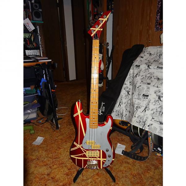 Custom Hondo Bass Fame Series 861 1980's Red/Tan EVH Stripes #1 image