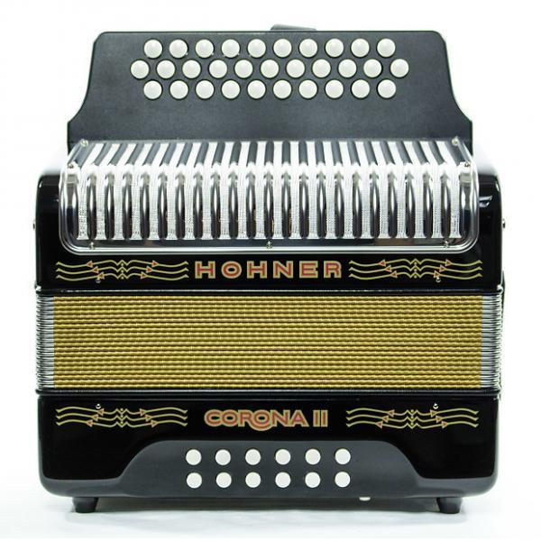 Custom Hohner Corona II GCF Accordion Black #1 image