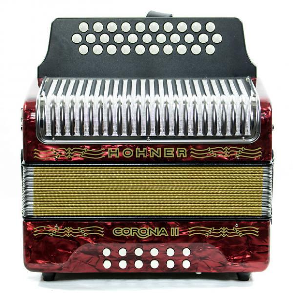 Custom Hohner Corona II FBbEb Accordion Red #1 image