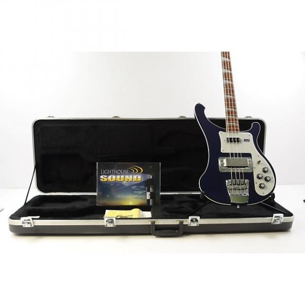 Custom 2008 Rickenbacker Model 4003 Stereo Bass Guitar - Blue w/ OHSC #1 image