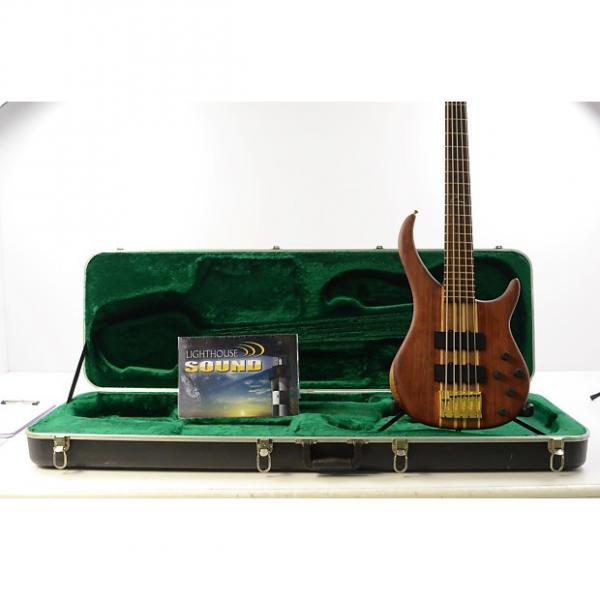 Custom Peavey Cirrus 5 String Electric Bass Guitar - Bubinga/Walnut w/ Original Hard Shell Case #1 image