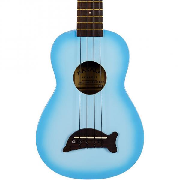 Custom Makala MK-SD/LBL Light Blue Burst Dolphin Bridge Soprano Ukulele #1 image