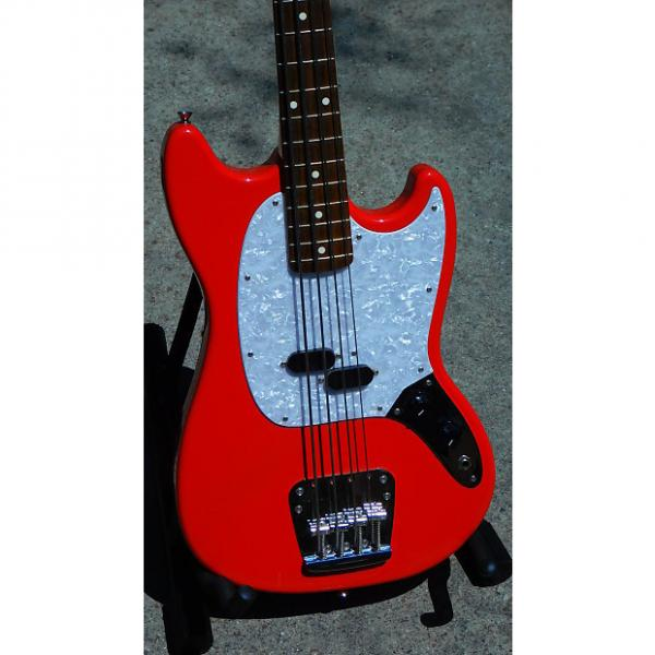 Custom Fender Mustang Bass CIJ 2006-2007 Fiesta Red #1 image