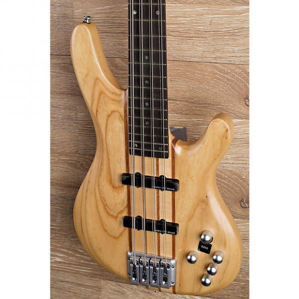 Custom 2017 Wolf 8 String Natural Satin Solid Ash Neck-Through Bass   2/8 #1 image