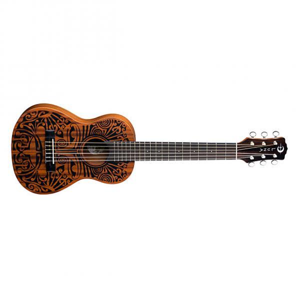 Custom NEW! Luna Tribal 6 String Mahogany uke ukuleles #1 image