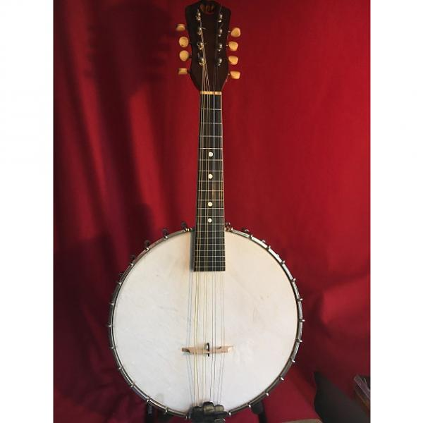 Custom Vega White Laydie Style L Banjo Mandolin, EC, Vintage - 1926/27, w/hsc #1 image
