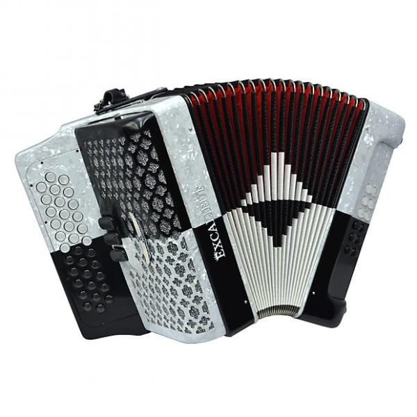 Custom Excalibur  SuClassic PSI 3 Row Button Accordion - Black/White -  Key of FBE #1 image