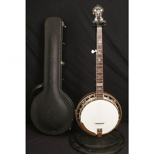 Custom Hatfield Custom Mahogany 5 string flathead banjo all original with a nice hardshell case #1 image