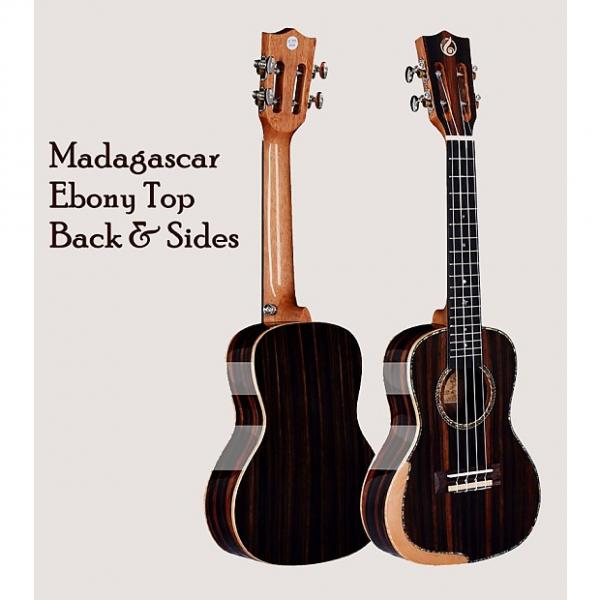 "Custom Madagascar Ebony 24"" Concert Ukulele w/Comfort Edge Maple Arm Rest & Free Gig Bag #1 image"