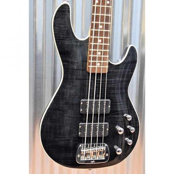 Custom G&L Tribute M-2000 GTS 4 String Carved Flame Top Trans Black Bass & Case  #8456 #1 image