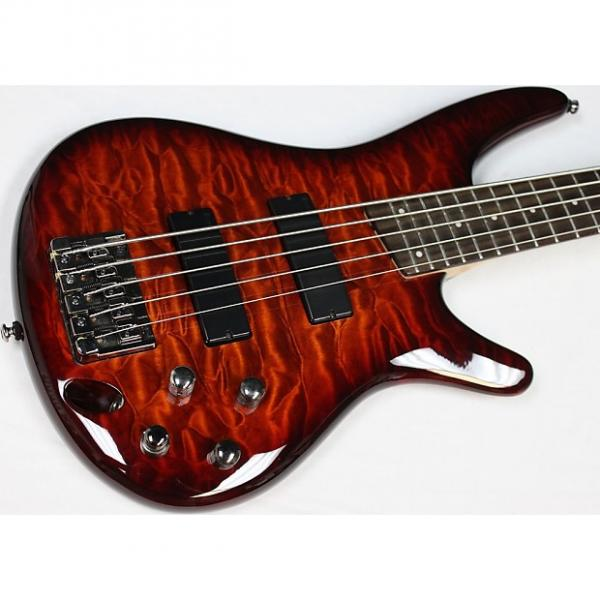Custom 2010 Ibanez SR405QM Soundgear 5-String Bass w/HSC Quilted Maple Near-Mint #40370 #1 image