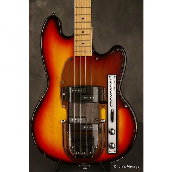 Custom Hayman 40/40 Bass 3-tone w/both transparent covers 1970s Sunburst #1 image