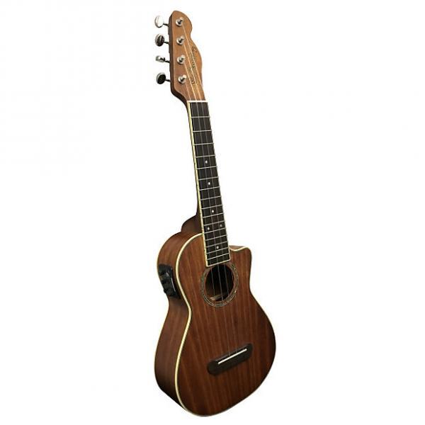 Custom Fender UK MINO'AKA Koa CE Koa Ukulele Acoustic-Electric #1 image