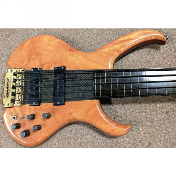 Custom 1980's Clover Slapper 5 String Fretless Bass Guitar, Headless, Composite Neck Thru, Bartolini #1 image