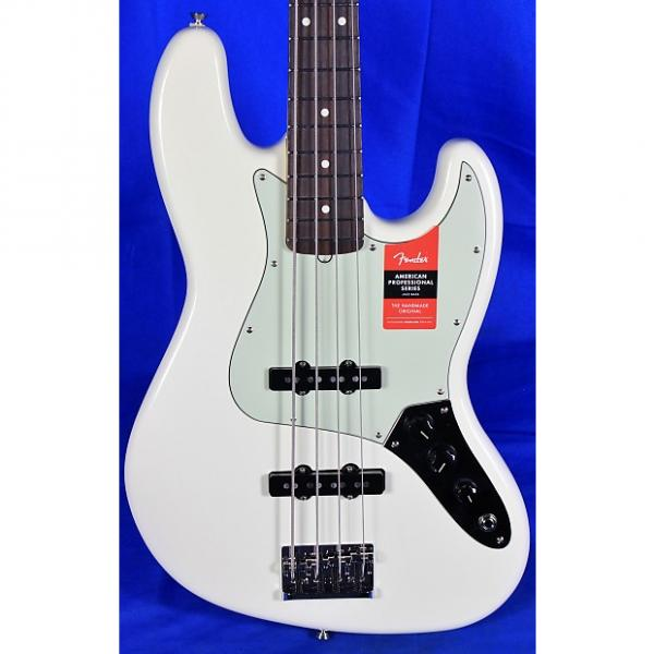 Custom Fender American Professional Jazz 4-String Electric Bass Guitar 2017 Olympic White #1 image