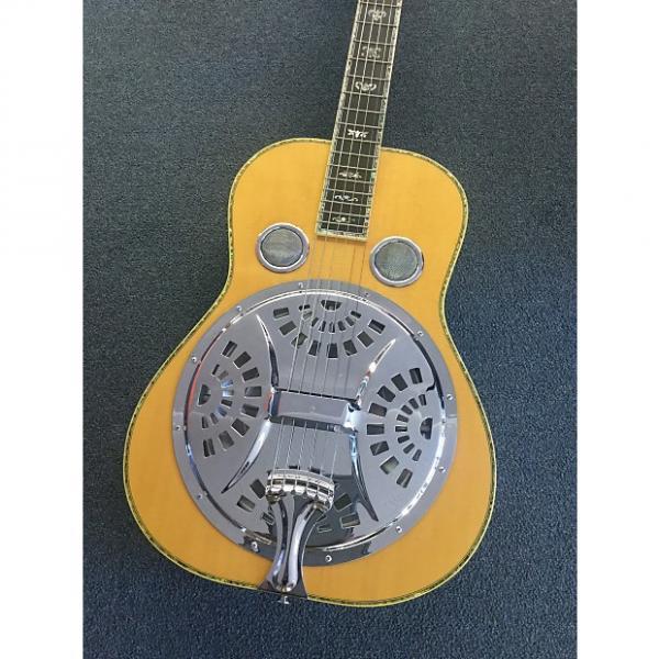 Custom Andrew Dobro Resonator Handmade W/case  Rosewood 45 Inlay #1 image