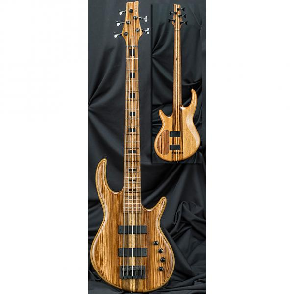Custom Kiesel Carvin IC5 Icon 5-String Electric Bass Guitar 2016 Zebrawood Top w/ Soft Case #1 image