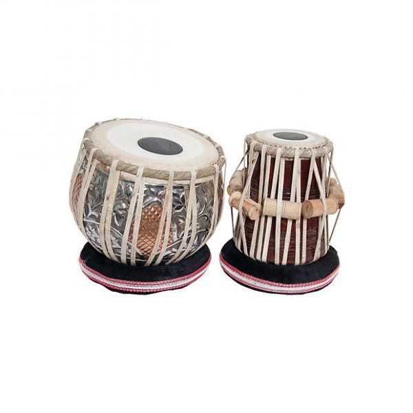 "Custom banjira Pro Tabla Set Embossed Heavy Copper Bayan and 5.5"" Dayan BLEMISHED #1 image"