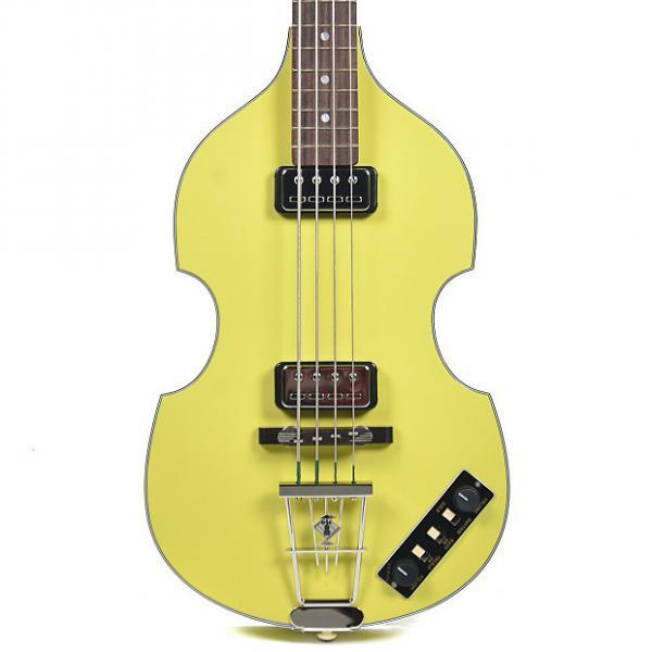 Custom Hofner Gold Label Berlin 1962 Reissue 500/1 Violin Bass Yellow #1 image