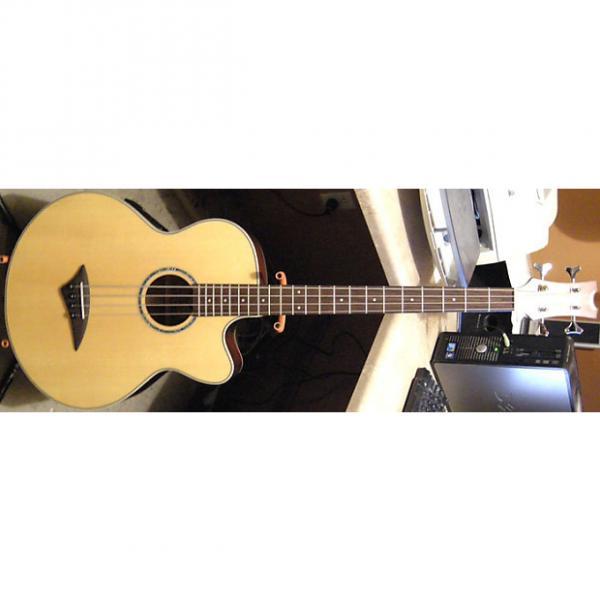 Custom Dean Performer Natural Satin Finish Cutaway Acoustic-Electric Bass Guitar w/Original Hardshell Case #1 image