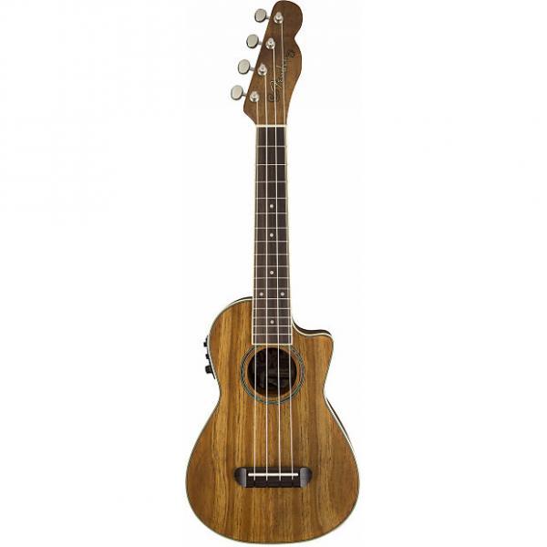 Custom Fender Mino'Aka Concert Ukulele Koa CE Acoustic/Electric #1 image