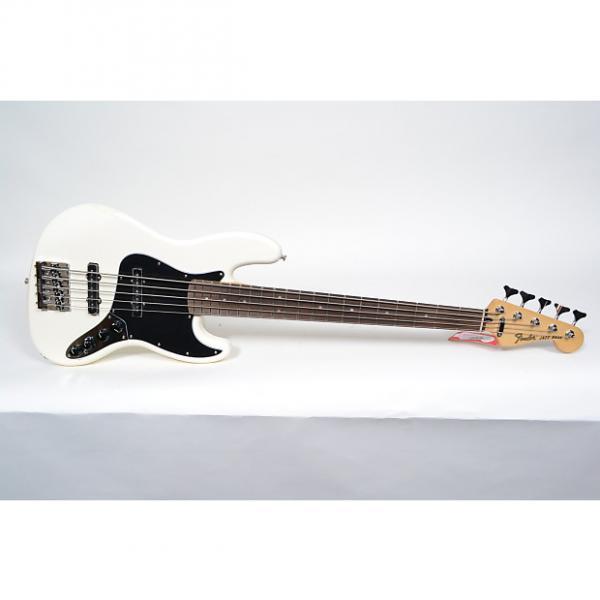 Custom Fender Deluxe Active Jazz Bass V 5 String Bass Vintage White #1 image