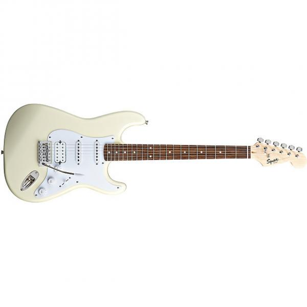 Custom Squier Bullet® Strat® with Tremolo HSS Arctic White #1 image
