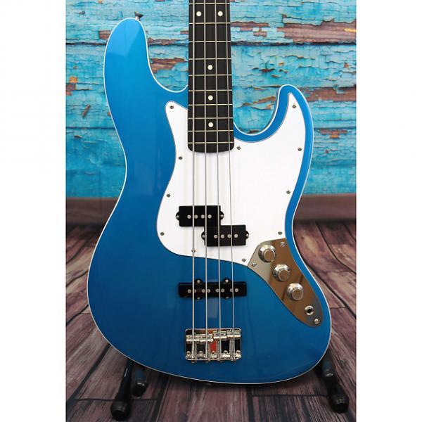 Custom Fender FSR Aerodyne Jazz Bass Lake Placid Blue (Pre-Owned) #1 image