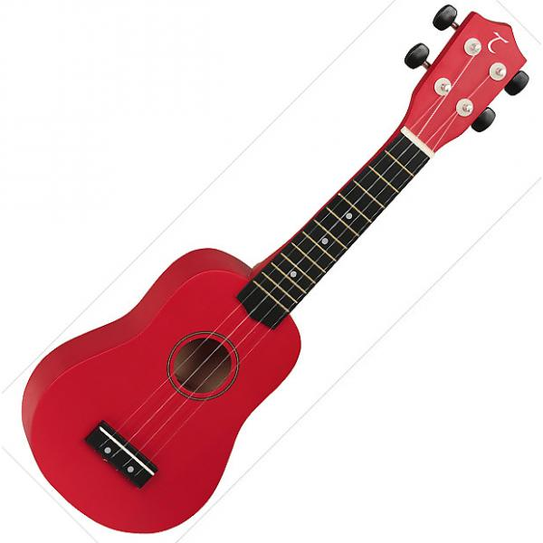 Custom Tanglewood Guitars  Soprano Ukulele - Red #1 image