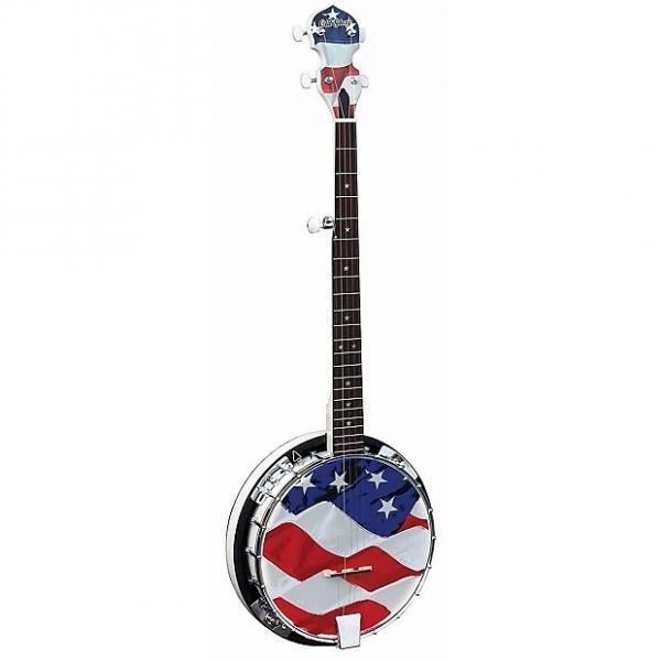 Custom New Morgan Monroe USA-OGB Old Glory 5-String Bluegrass Banjo, American Flag +Free Shipping #1 image