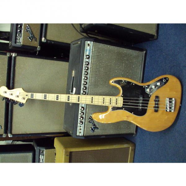Custom Squier Jazz Bass VINTAGE MODIFIED Electric Bass Guitar 2013 NATURAL #1 image