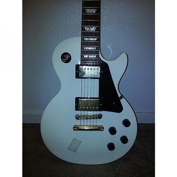 Custom Gibson Les Paul Studio Deluxe 2012 Aged Vintage White Over 2-Tone Sunburst #1 image