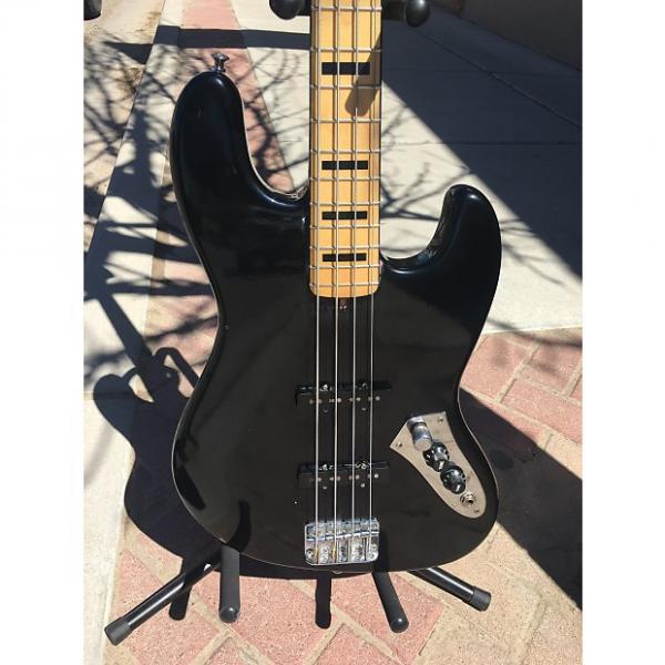 Custom Squier fender Jazz bass  Dark Blue sparkle #1 image