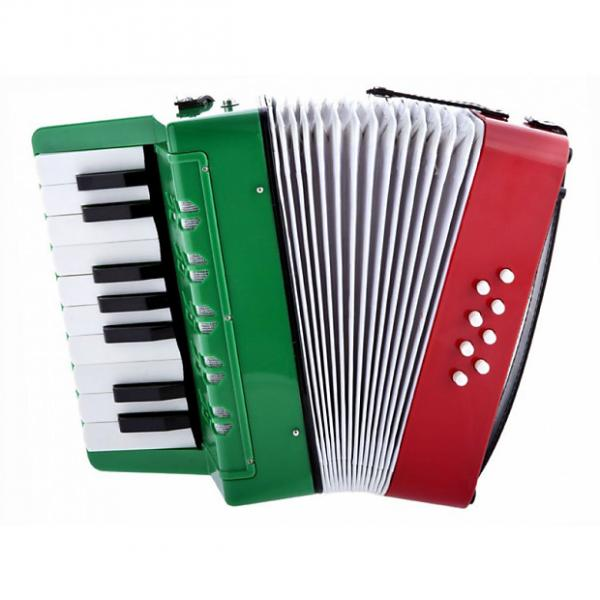 Custom D'Luca G104-MX Kids Piano Accordion 17 Keys, 8 Bass RWG #1 image