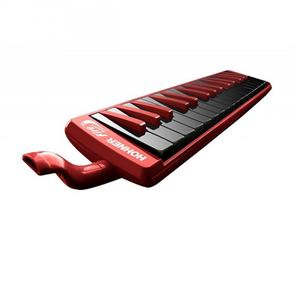 Custom Hohner 32F 32-Key Piano-Style Fire Melodica, Red #1 image