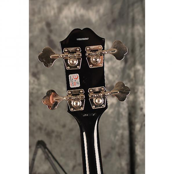 Custom Epiphone EB-0 2011 Ebony Gloss 4 String Short Scale SG Bass Guitar w Deluxe Gigbag included #1 image