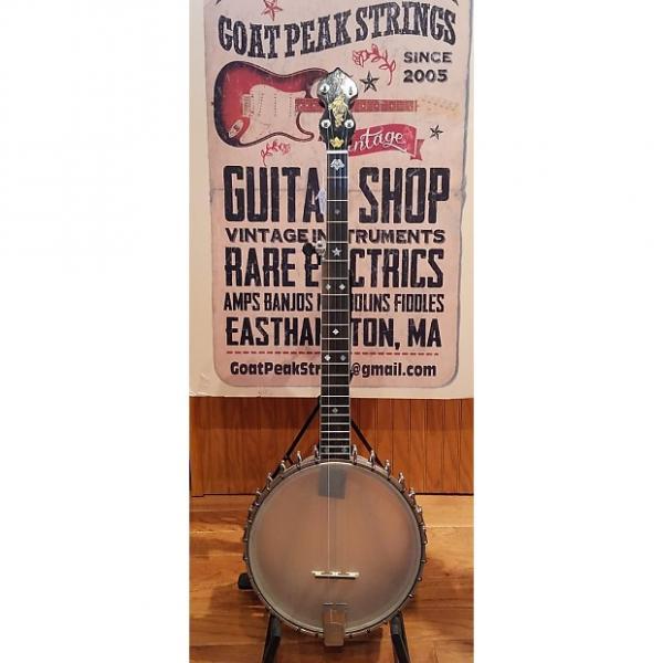 Custom Vega Vegaphone Professional Tenor Banjo converted to 5 String w/ Eastman Whyte Lady Neck 1929 natural #1 image